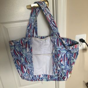 Lilly Pulitzer Red Right Return Tote Bag